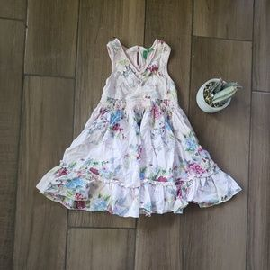 United Colors of Benneton floral pink dress 4T